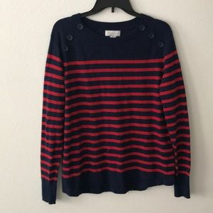 Blue/Red Striped Sweater